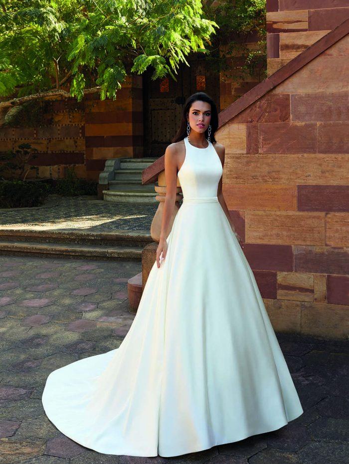 Vestido de novia liso, perfecto para cualquier silueta